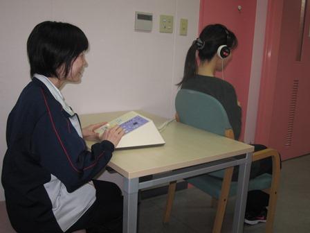 リハビリ風景(聴覚検査)