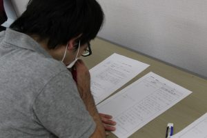 筆記試験の様子